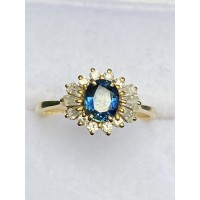 Fantastic  14ct Yellow Gold Sapphire and Diamond Ring