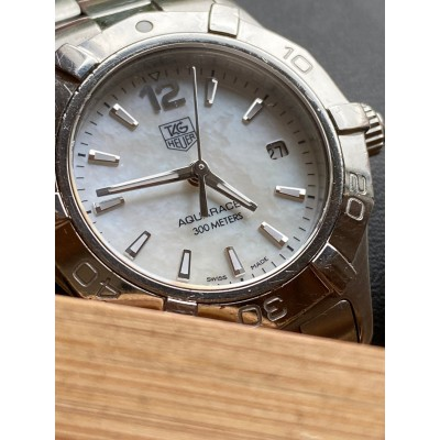 TAG Heuer Aquaracer WAF1414 Stainless Steel MOP Dial 300M WR Ladies Watch