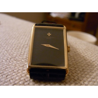 Vintage  Vacheron Constantin Geneve 18ct gold tank watch