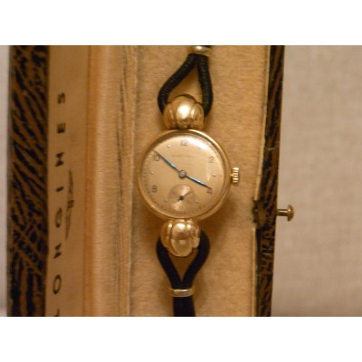 Longines art deco  watch rose gold  in original box