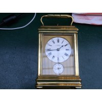 Minute repeating chiming alarm carriage clock